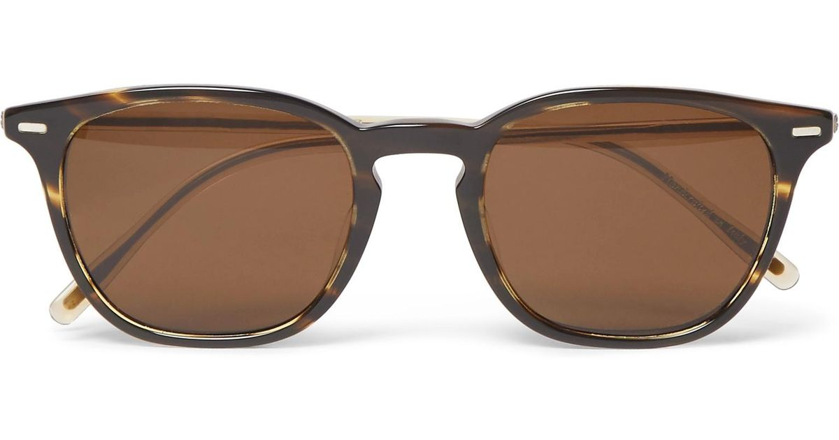 Oliver Peoples Heaton D-frame Two-tone Tortoiseshell Acetate Sunglasses - Brown KR1lYOZzu