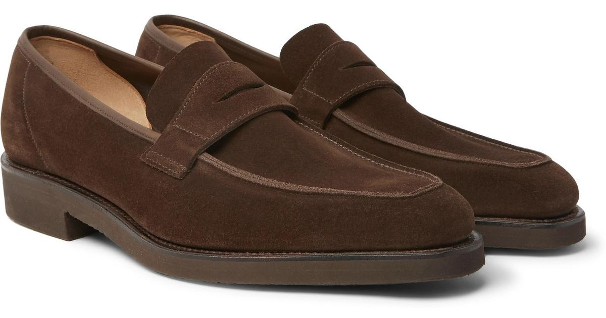 George Suede Penny Loafers - BrownGeorge Cleverley fTzRd