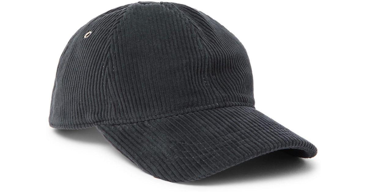Lyst - AMI Cotton-corduroy Baseball Cap in Blue for Men c378735eb5c
