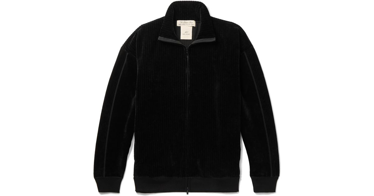 in Track Jacket up Ribbed Velour Men Remi Relief for Black Lyst Zip 8qTRwZ