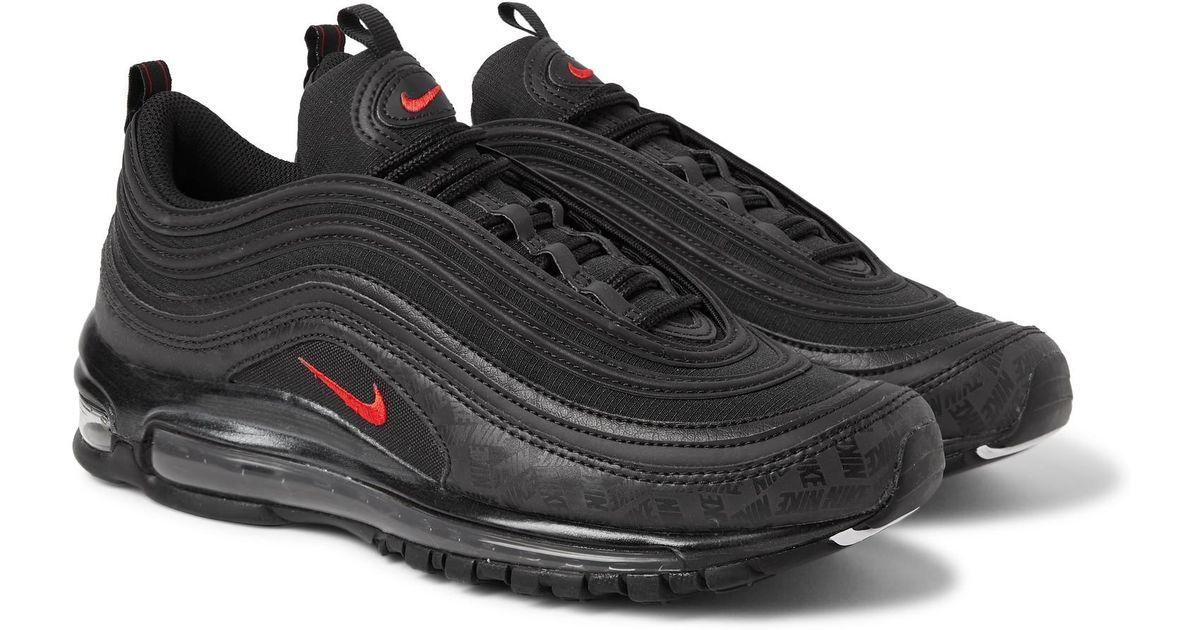 7dc0497efabc Nike Air Max 97 Future Tech Leather-trimmed Ripstop Sneakers in Black for  Men - Lyst