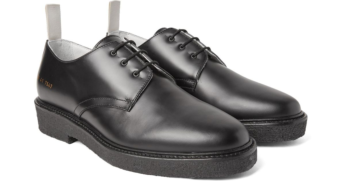ba24af52c14f Lyst - Common Projects Cadet Leather Derby Shoes in Black for Men