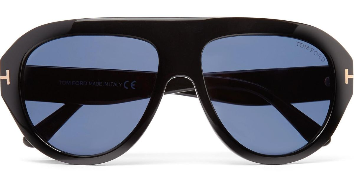 6730dbcbba74 Lyst - Tom Ford Felix Aviator-style Acetate Sunglasses in Black for Men