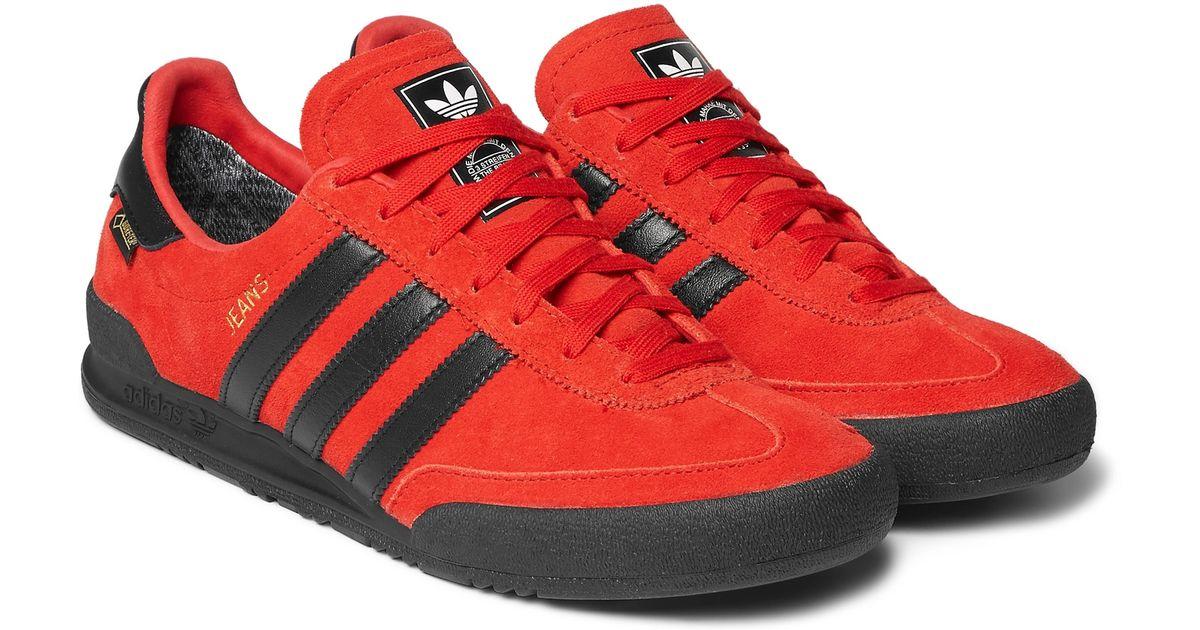 adidas Originals Jeans Gtx Waterproof Suede Sneakers in Red for Men - Lyst 97d58ce26