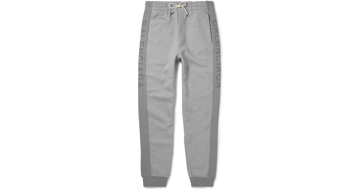 5dcf18de3a50c Balenciaga Slim-fit Tapered Fleece-back Cotton-jersey Sweatpants in Gray  for Men - Lyst