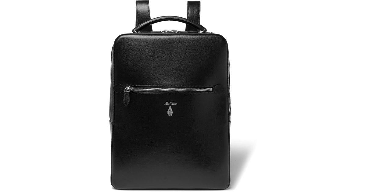 ed753562be Lyst - Mark Cross Alexander Cross-grain Leather Backpack in Black for Men
