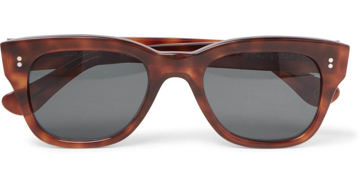 a3b2943ea7 Kingsman + Cutler And Gross D-frame Tortoiseshell Acetate Sunglasses in  Brown for Men - Lyst