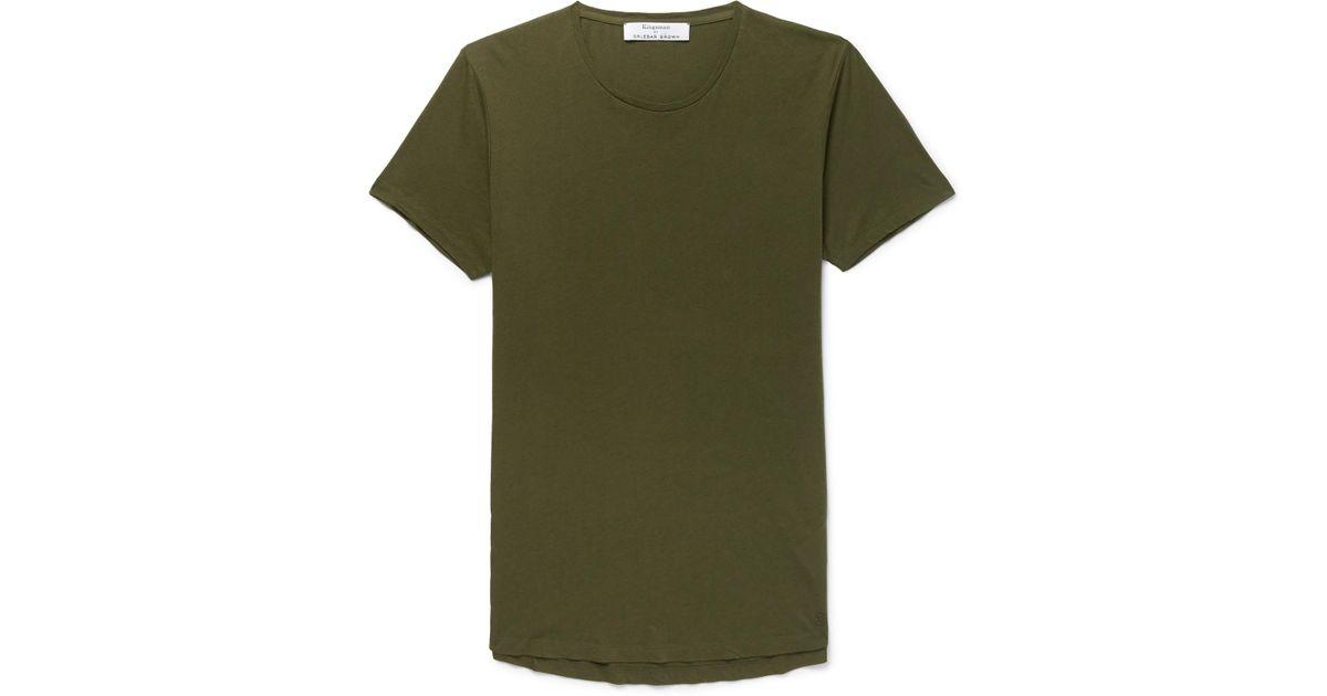 KINGSMAN + Orlebar Brown Ob-t Slim-fit Cotton-jersey T-shirt - Army green mHNcnE