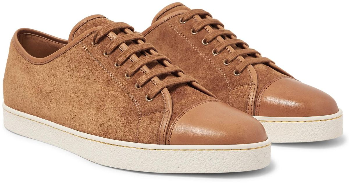 cheap visa payment free shipping 100% original John Lobb Levah Cap-Toe Leather and Suede Sneakers amazing price online cheap countdown package 4Yp2kGnNys