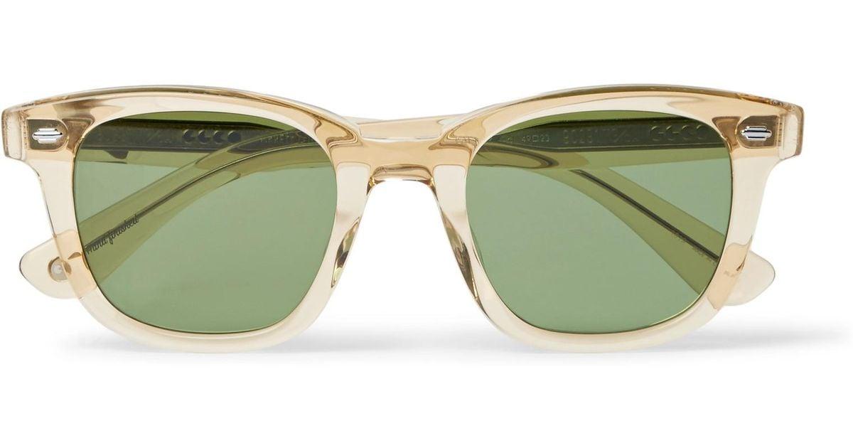 In Frame Leight Acetate Green 49 Sunglasses Garrett Square Calabar qRwpq0I