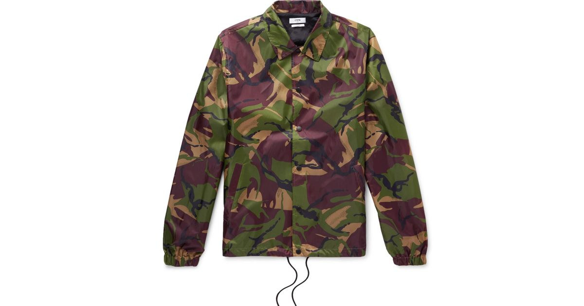 Shell Lyst Igor for Jacket Cmmn Swdn print Men Green Camouflage in HIvwRfqn