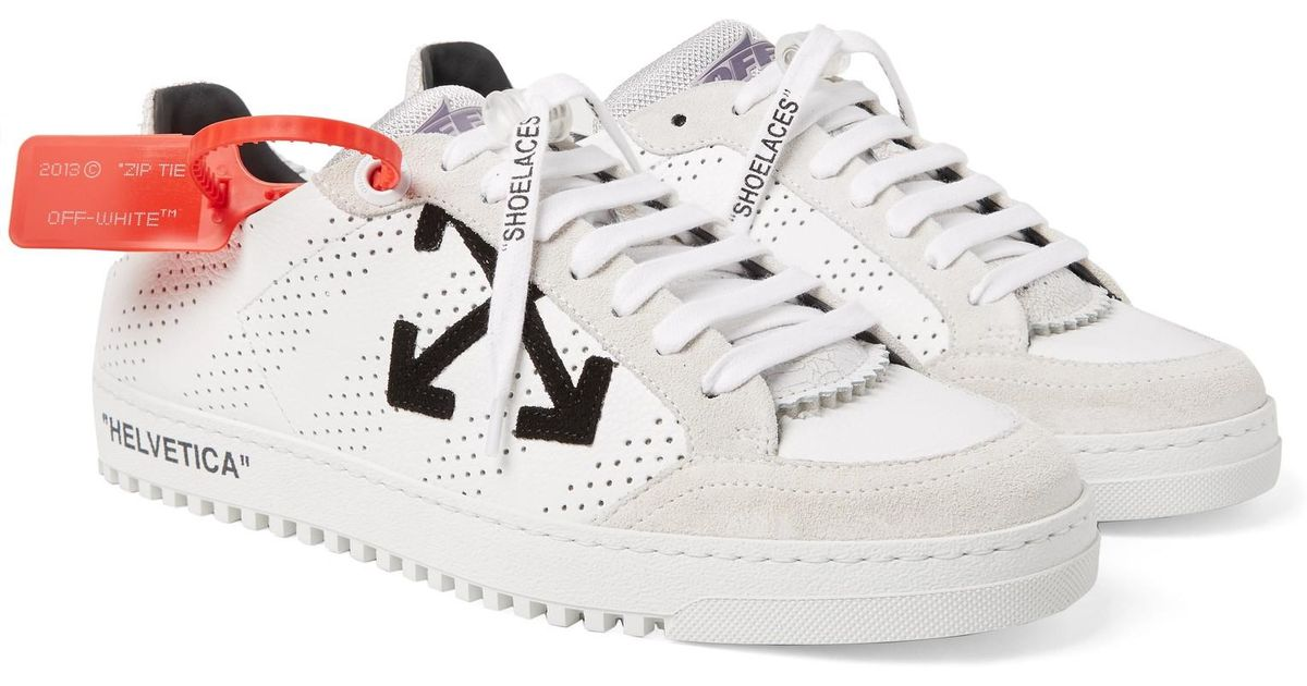 bd81e4300 Off-White c/o Virgil Abloh Leather Polo Sneakers in White for Men - Save  57% - Lyst
