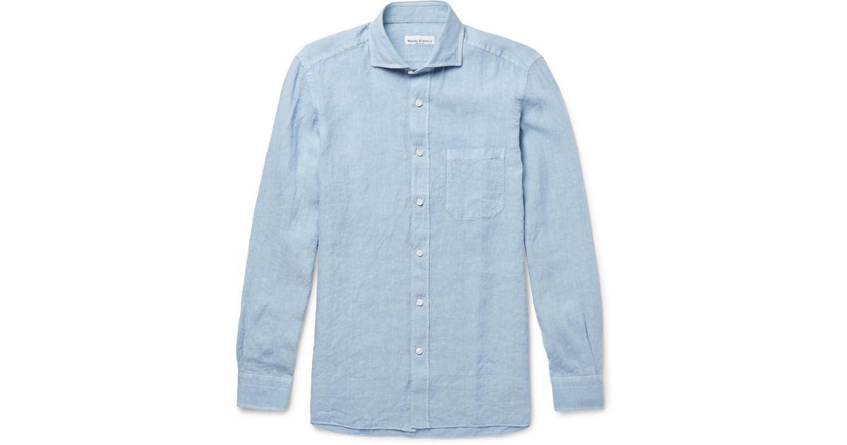 Blue Denim Shirt Rubinacci Sale Clearance With Paypal Free Shipping Cheap Sale Big Sale Cheap Sale Sale Original 0M3BLmeae