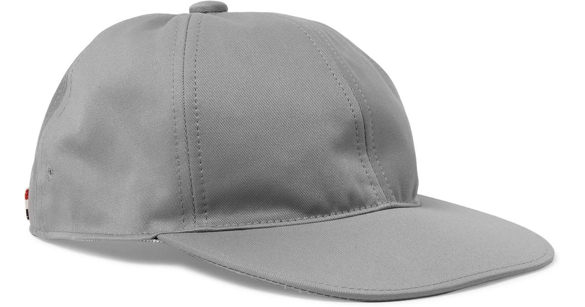 Grosgrain-trimmed Checked Cotton Baseball Cap Thom Browne 2crVKt