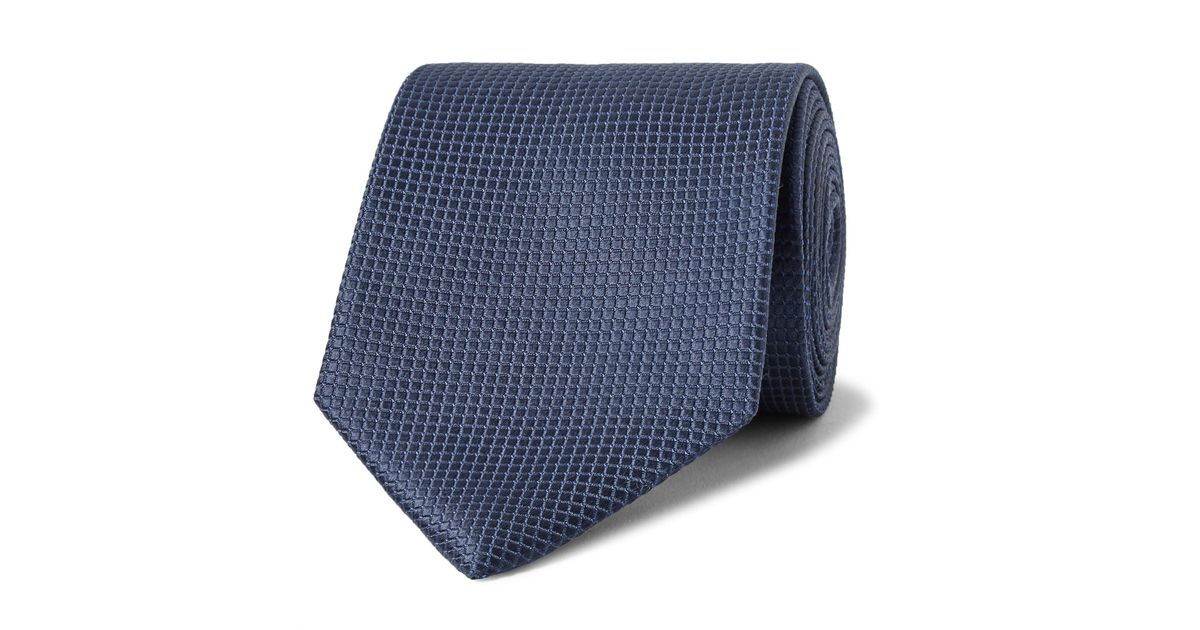 8cm Textured-silk Tie Ermenegildo Zegna P4QLj