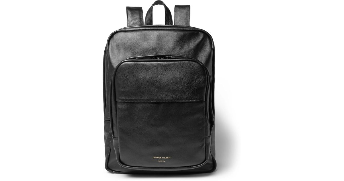 ad9125661 Lyst - Common Projects Cross-grain Leather Backpack in Black for Men