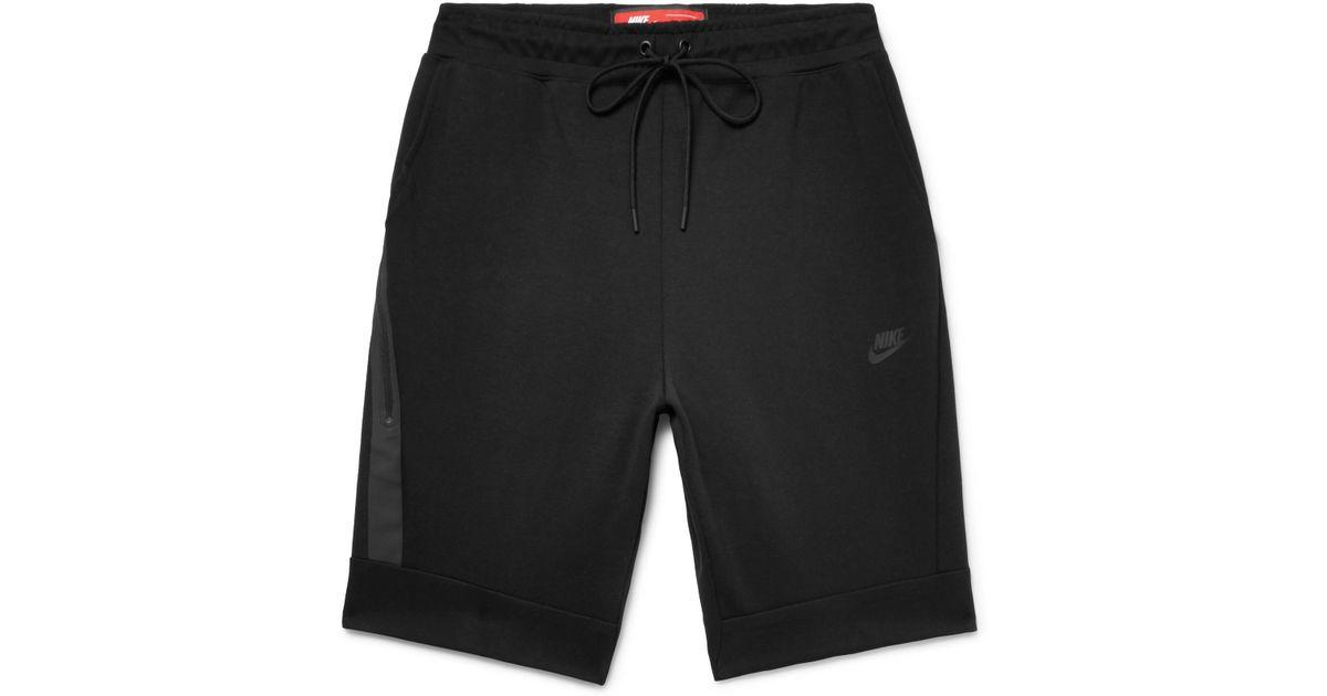 Lyst - Nike Cotton-blend Tech Fleece Shorts in Black for Men fb66ed3f5429