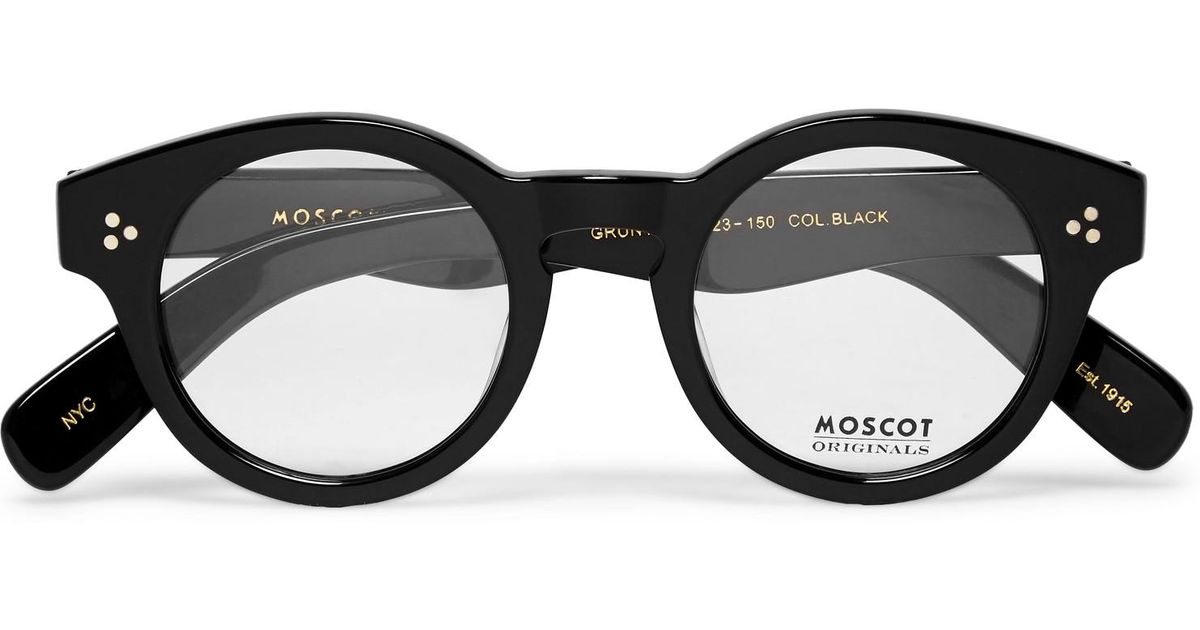 ce63967bc Moscot Grunya Round-frame Acetate Optical Glasses in Black for Men - Lyst