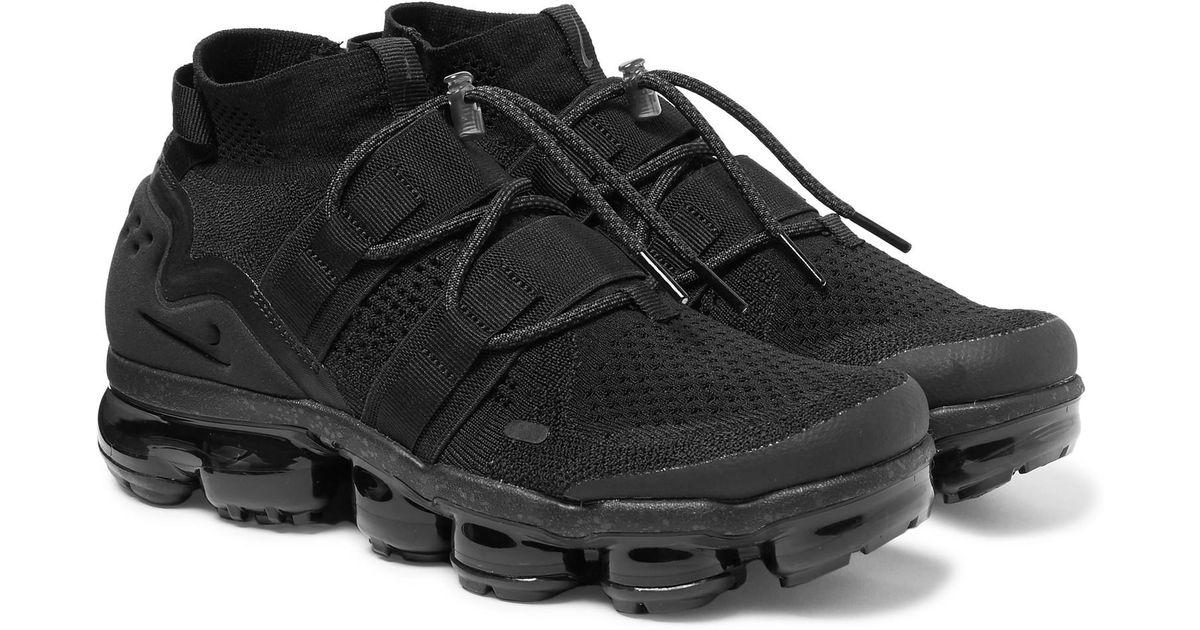 1ca423e8a0b47 Nike Vapormax Flyknit Utility Sneakers in Black for Men - Lyst