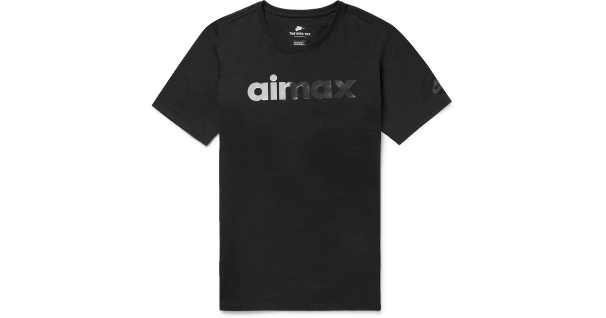 312c4a04e7 Lyst - Nike Air Max 95 Printed Cotton-jersey T-shirt in Black for Men