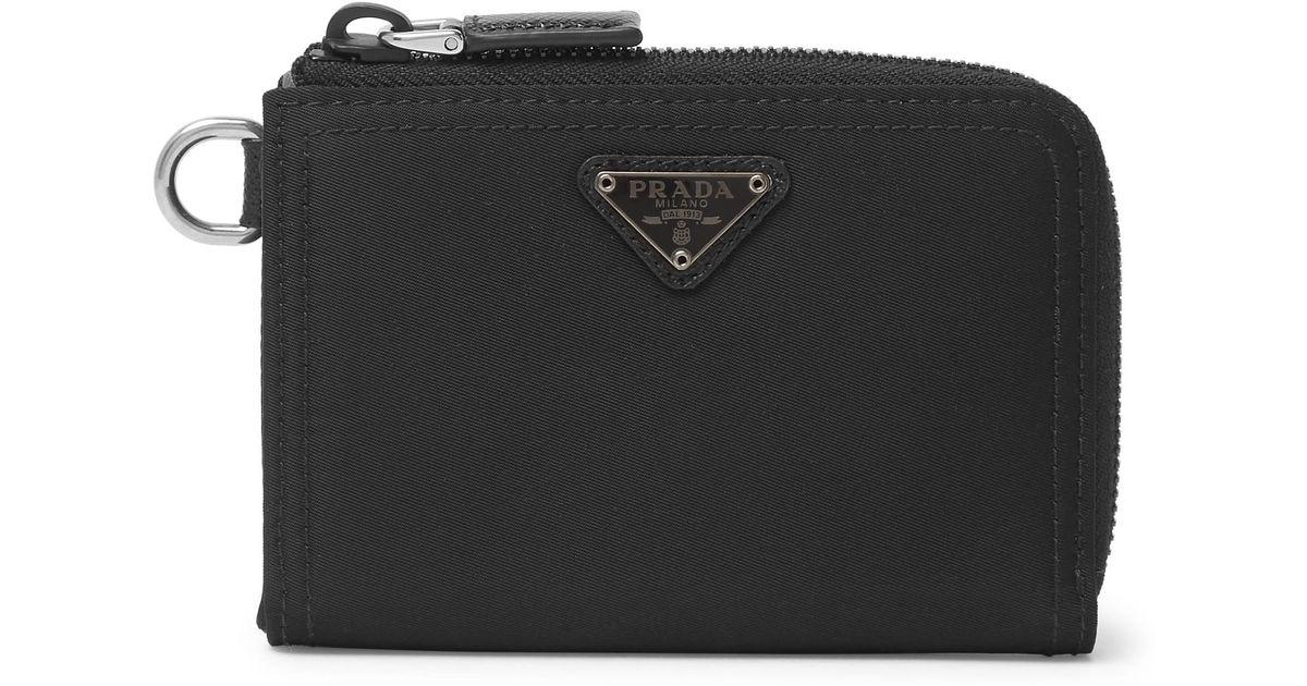 fa43727af3d0 Prada Nylon Zip-around Wallet in Black for Men - Lyst