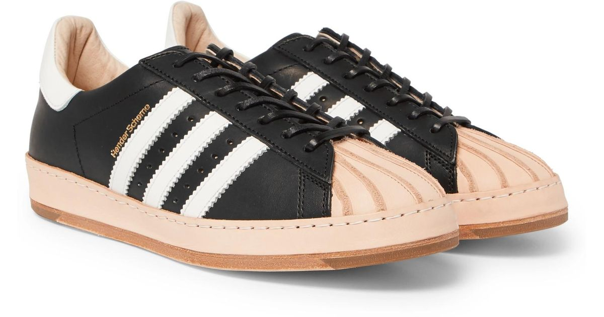 429e9261a4710 Lyst - adidas Originals + Hender Scheme Superstar Leather Sneakers in Black  for Men