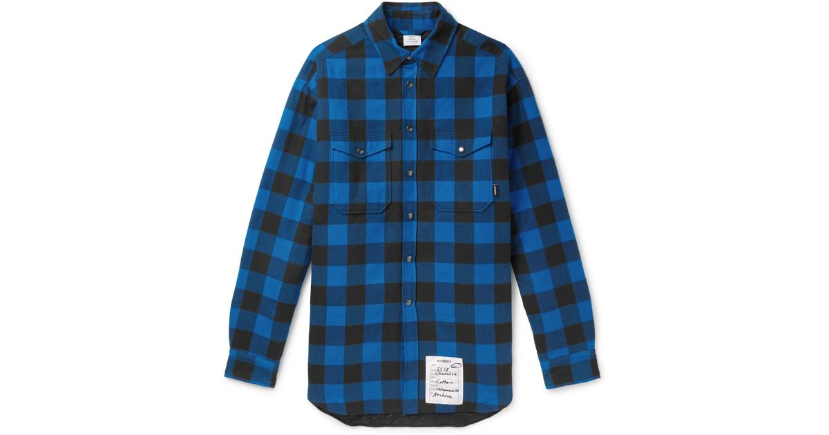 Oversized Checked Cotton-flannel Shirt - Blue VETEMENTS Free Shipping New 2018 Cheap Online Pictures Online With Credit Card Online Shop For Sale Online QVVp7i2V
