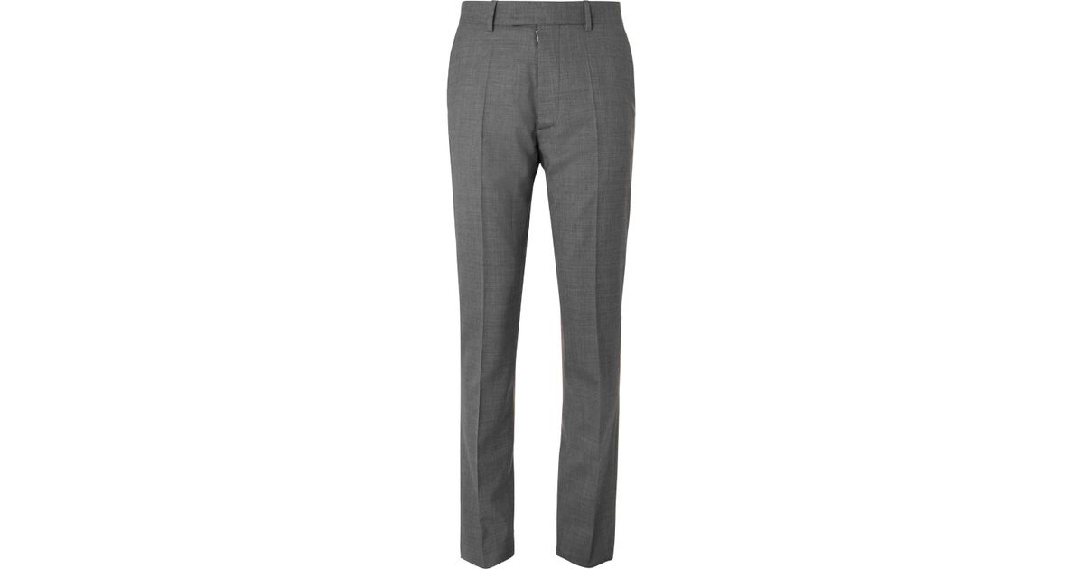 Grey Slim-fit Mélange Virgin Wool Suit Trousers Maison Martin Margiela Finishline Outlet 2018 New Cheap How Much K2TUe