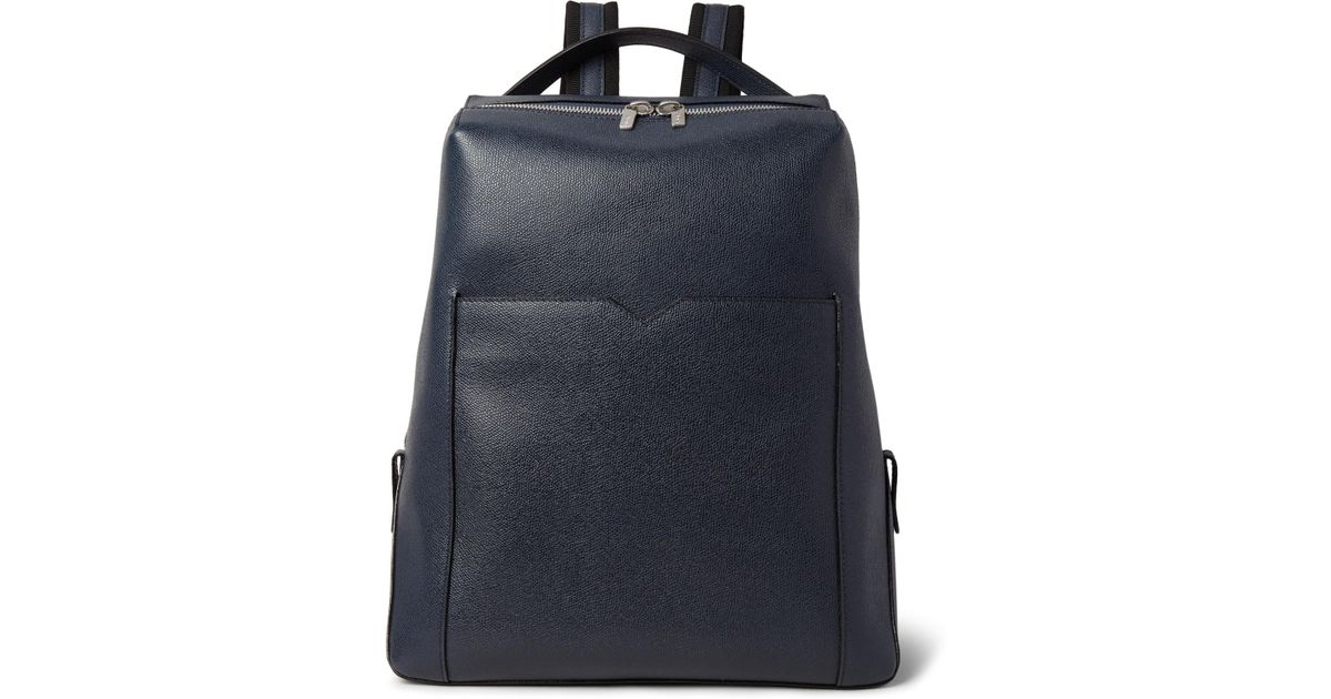 Grained-leather backpack Valextra UNSiFlij5