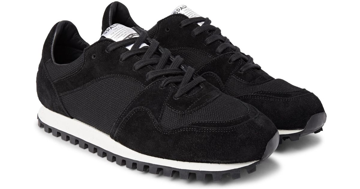 00d87f3428409b Lyst - Spalwart Marathon Trail Suede And Mesh Sneakers in Black for Men