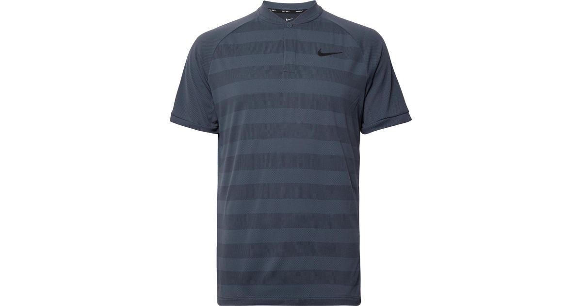 ac9bcb0970 Nike Zonal Cooling Momentum Striped Mesh Golf T-shirt in Blue for Men - Lyst