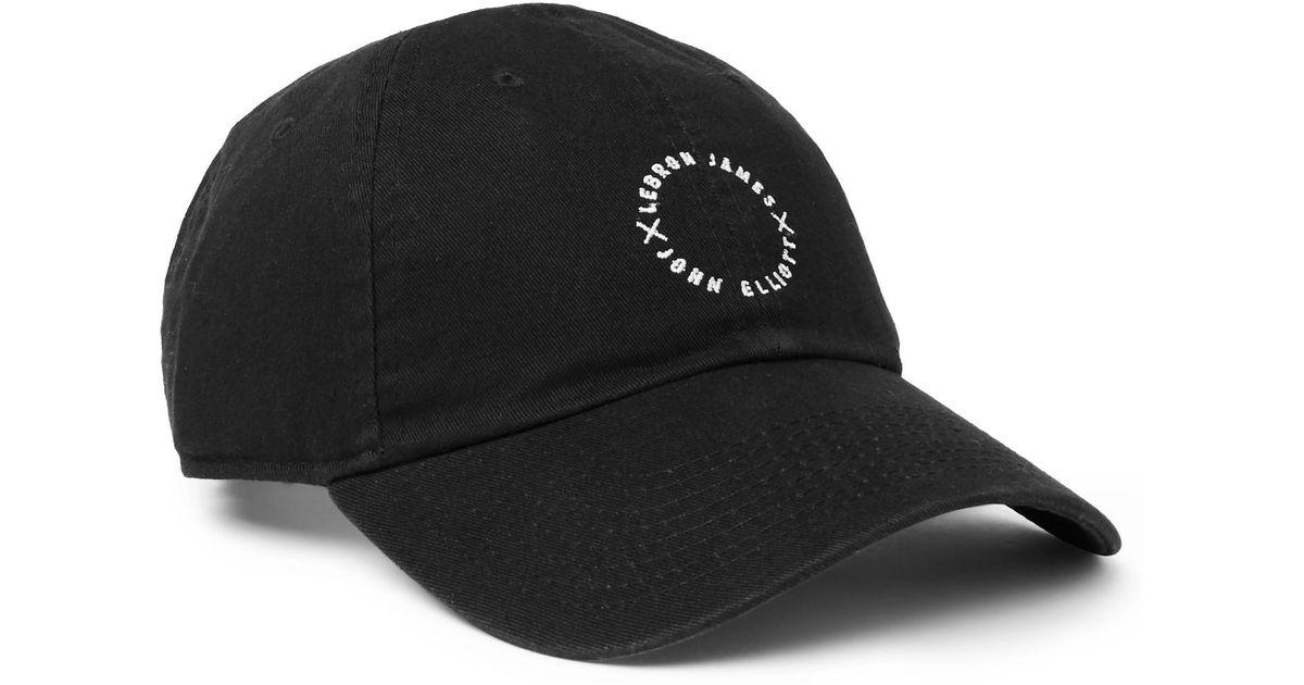Lyst - Nike + Lebron James X John Elliott Embroidered Cotton-twill Baseball  Cap in Black for Men