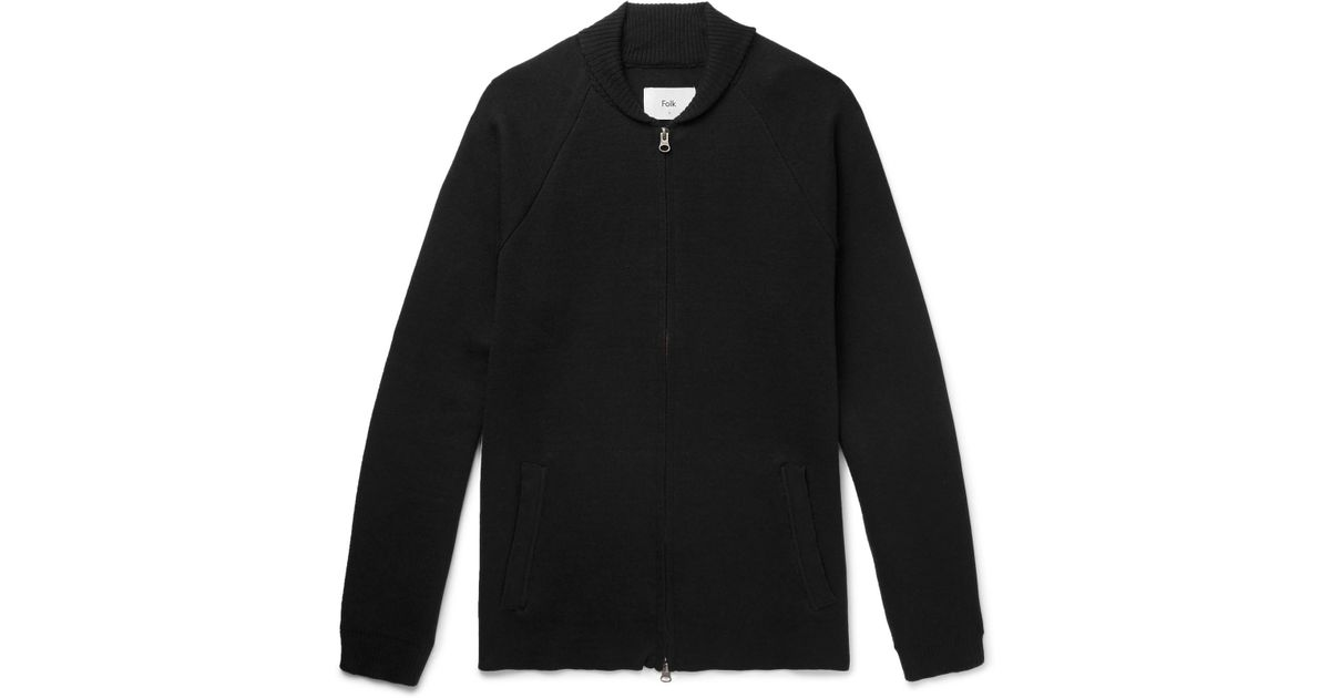Milano Shawl-collar Cotton And Wool-blend Zip-up Cardigan Folk Sale Countdown Package Factory Outlet NLGaKnKvZA
