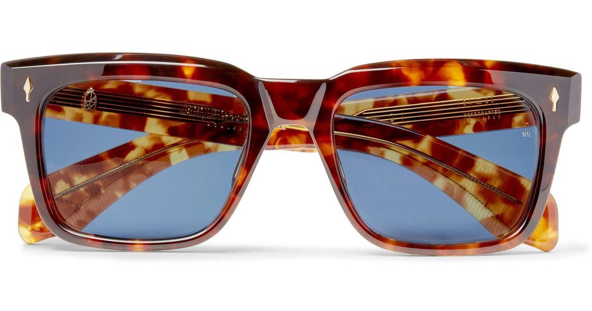 JACQUES MARIE MAGE Torino Square-frame Tortoiseshell Acetate Sunglasses - Tortoiseshell nAFyoou