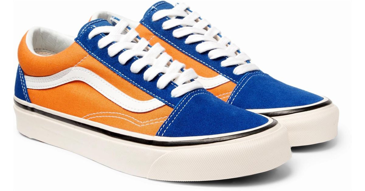 uk availability 5010d 3f9e7 vans-blue-Anaheim-Old-Skool-36-Leather-trimmed-Canvas-And-Suede-Sneakers .jpeg