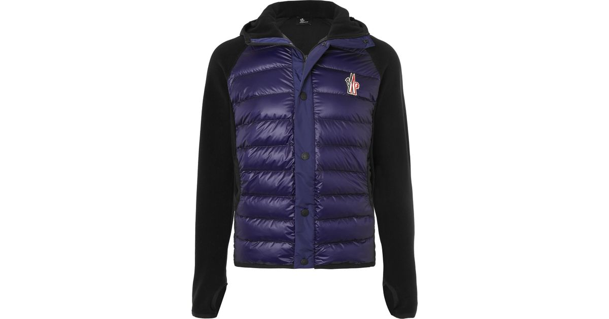 Blue Jacket Ski Grenoble In For Fleece Lyst Shell Men Moncler Panelled Hooded qwYX8Y6x