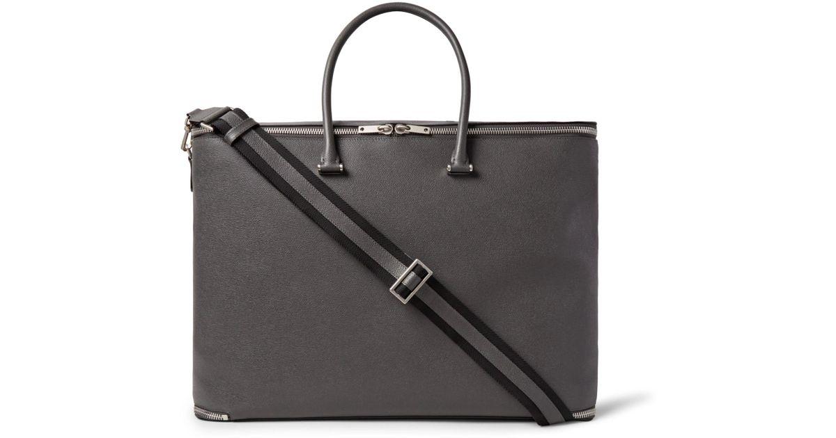 Lyst - Valextra Versatile Pebble-grain Leather Holdall in Black for Men 947174b916b2e
