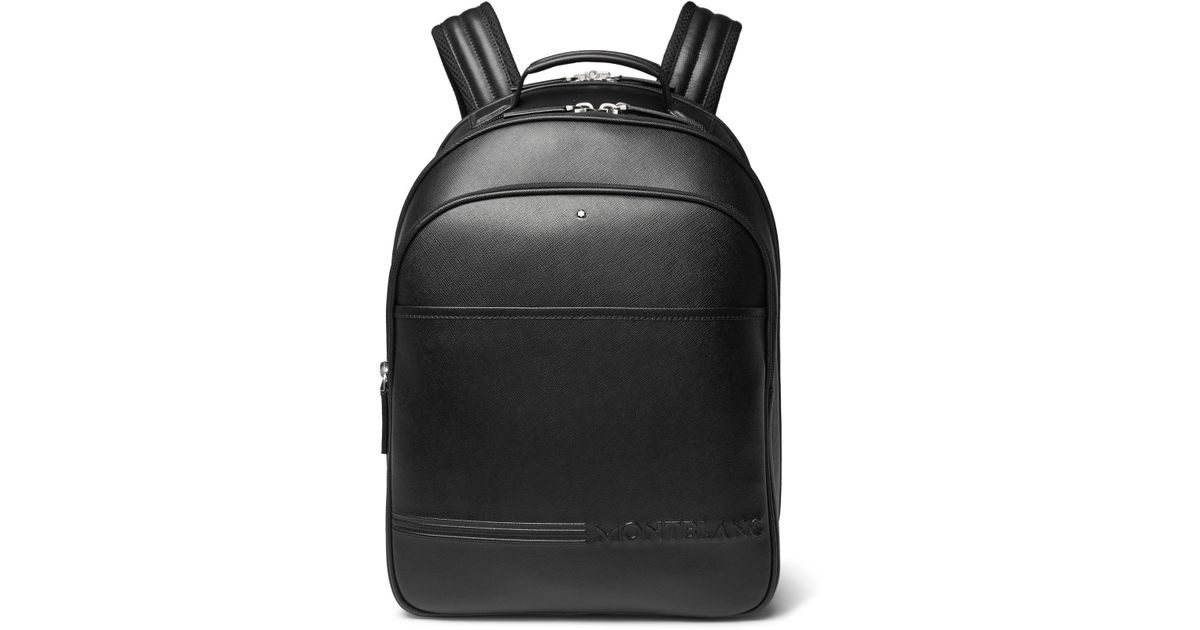 ee41268fb Montblanc Extreme Cross-grain Leather Backpack in Black for Men - Lyst