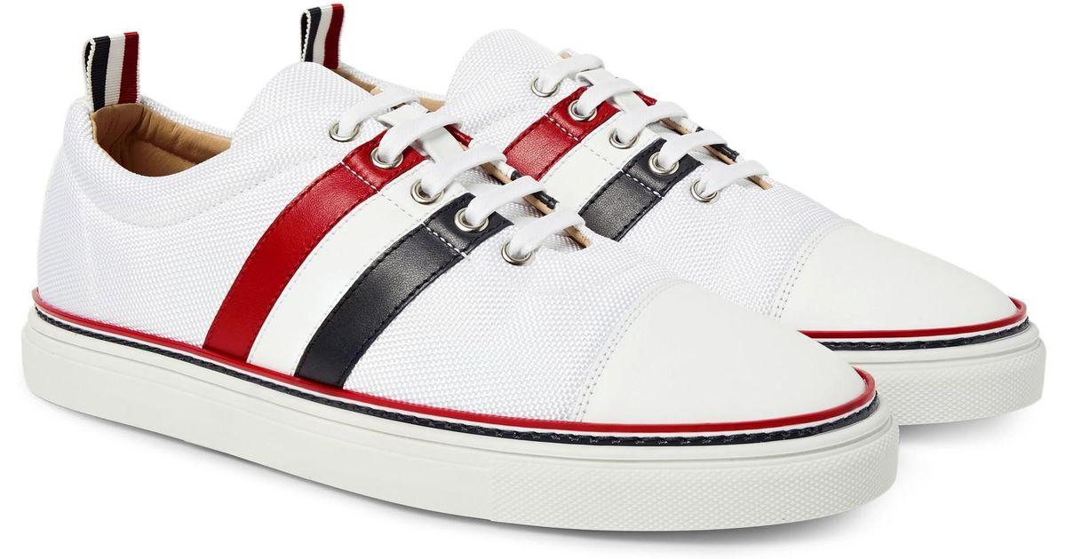 Thom BrowneSide Stripe Low-Top Sneakers