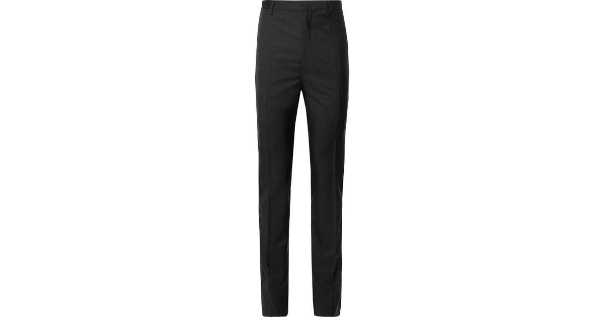 Black-slim Scintillait Laine Garni Gros Grain Et Mohair-mélange Pantalon De Smoking Lanvin a104sNU
