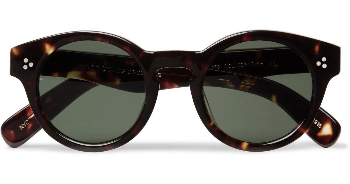 180cbb4b3 Moscot Grunya Round-frame Tortoiseshell Acetate Sunglasses for Men - Lyst