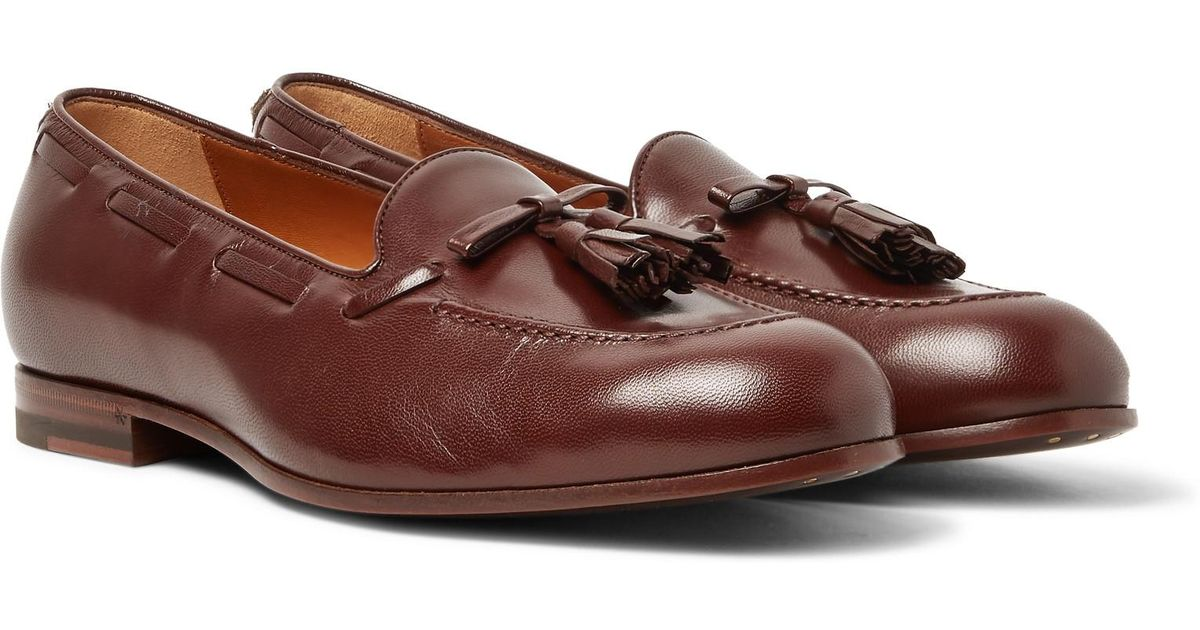 f8dc2a42739 Lyst - Gucci Loomis Leather Tasselled Loafers in Brown for Men