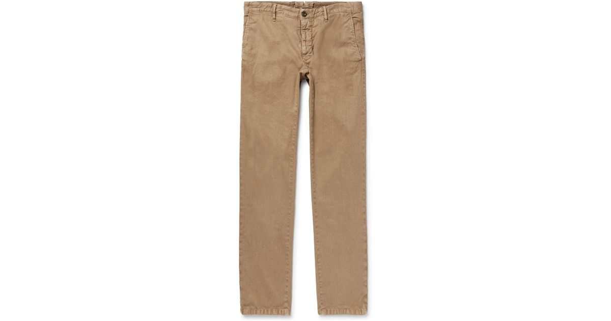 Slim-fit Linen And Cotton-blend Trousers Incotex