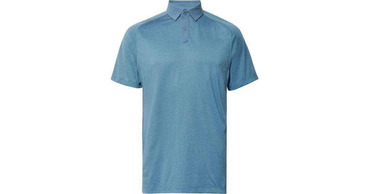 de06171ac8 Lyst - Under Armour Striped Threadborne Heatgear Golf Polo Shirt in Blue  for Men