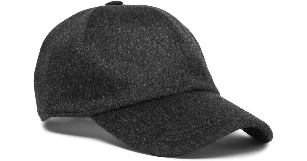 657b1025f67 Lyst - Ermenegildo Zegna Embroidered Cashmere Baseball Cap in Gray for Men