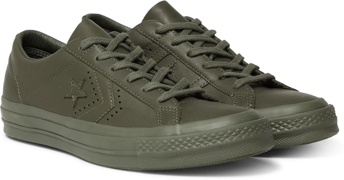 e42035f8c69 Lyst - Converse + Engineered Garments One Star Leather Sneakers in Green  for Men
