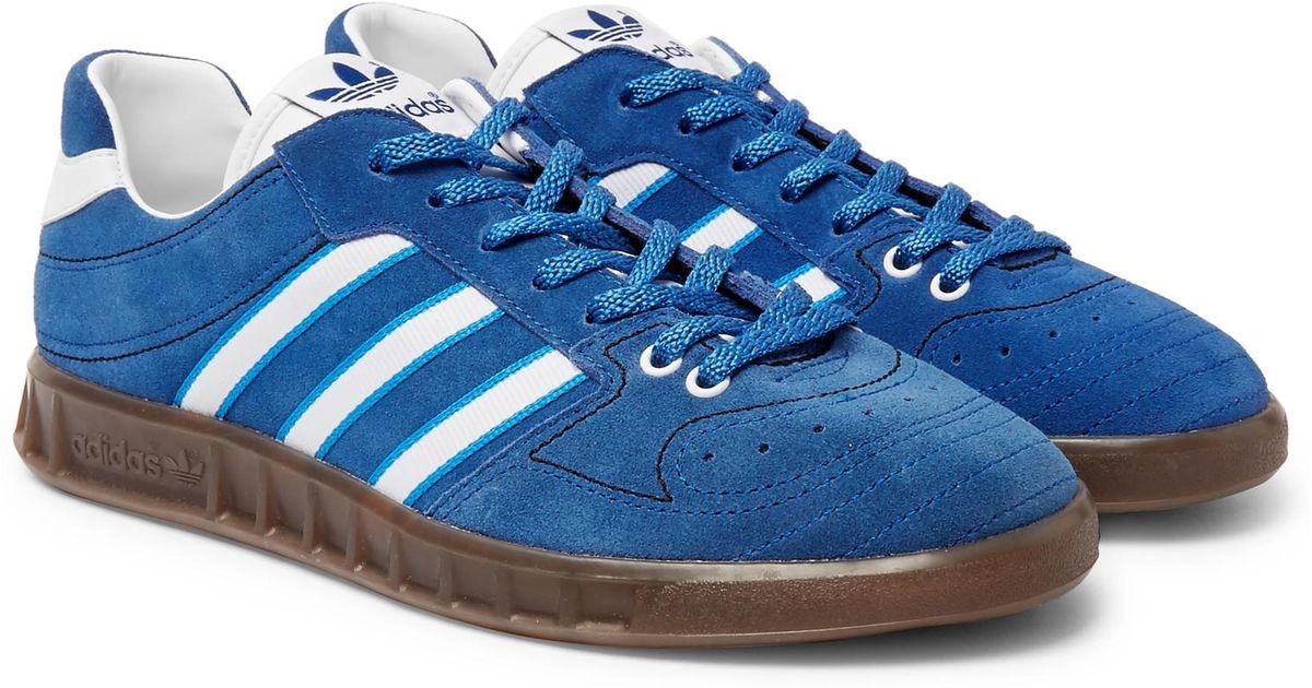 new concept 3e3ac d5a0c ... Blue Footwear White Footasylum  the latest 16842 5e045 Lyst - adidas  Originals Handball Kreft Spezial Leather-trimmed Suede Sneakers