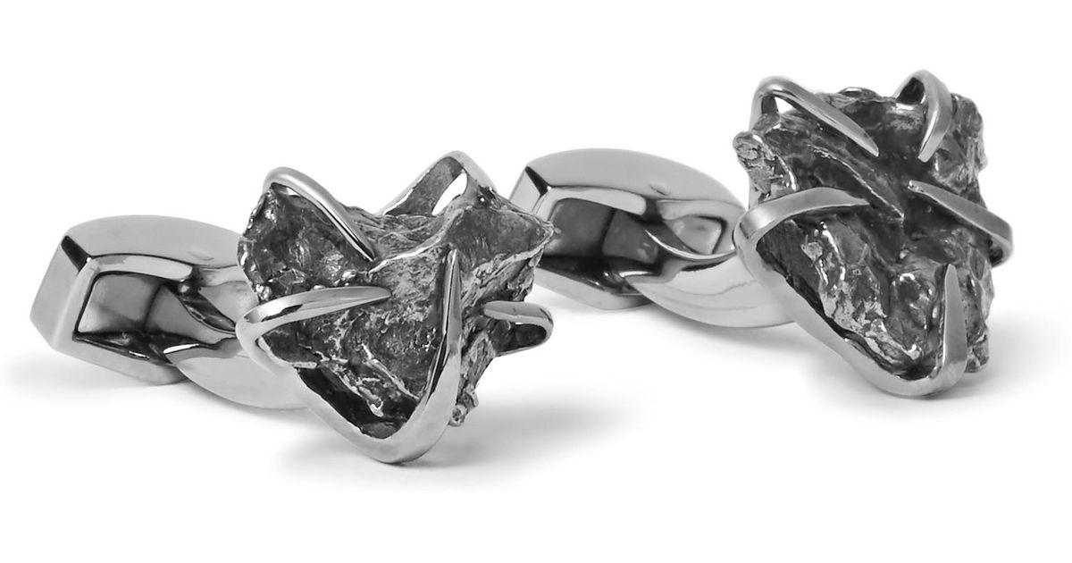 Syna 18kt 925 Black Diamond & Black Onyx Cufflinks xMsE2