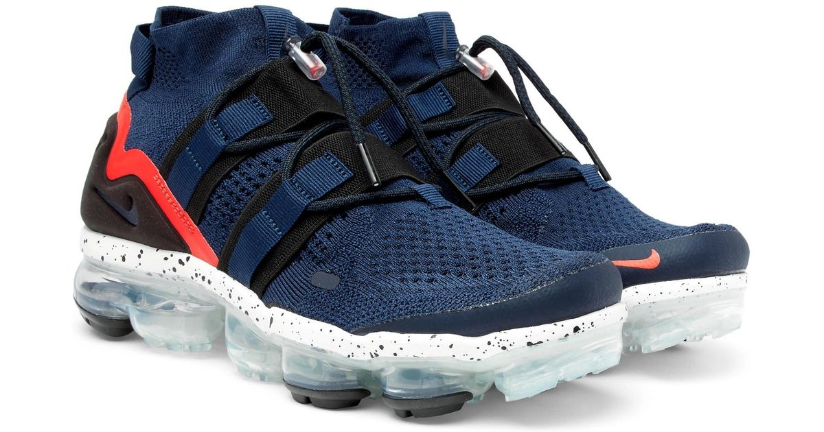 9d33e94c8a879 Nike Lab Air Vapormax Flyknit Utility Sneakers in Blue for Men - Lyst