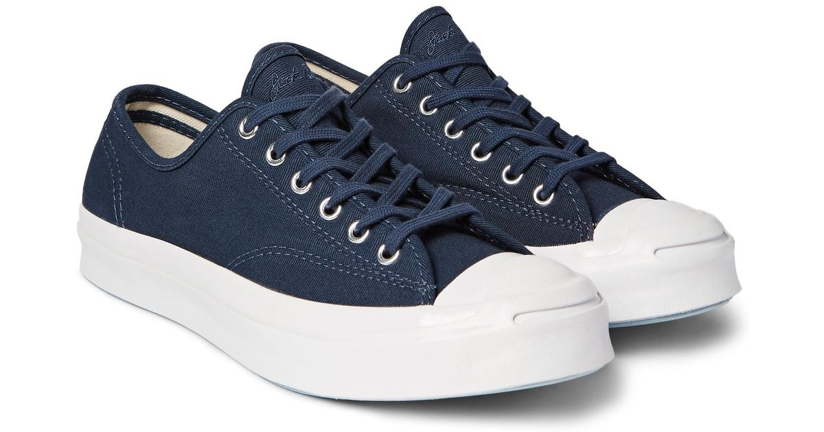 288f9878abe8 Lyst - Converse Jack Purcell Signature Jungle Cloth Canvas Sneakers in Blue  for Men